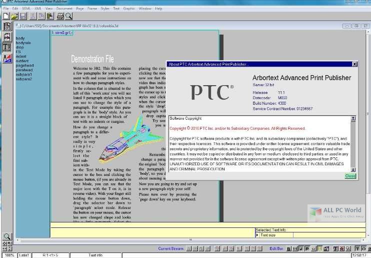 PTC Arbortext Advanced Print Publisher v11.2 Free Download