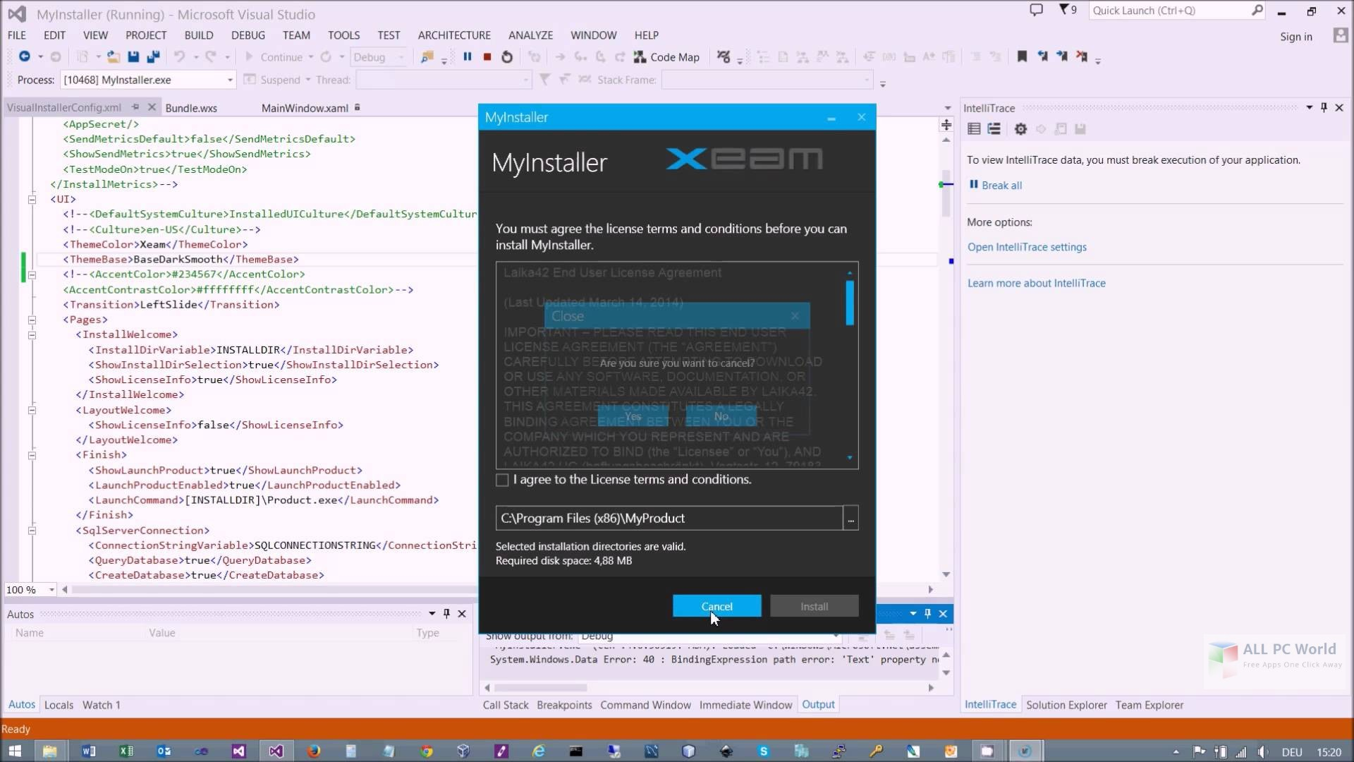 Xeam Visual Installer 18.5 Free Download