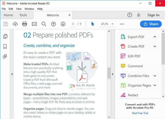 Adobe Acrobat Reader DC 2019 Free Download - ALL PC World