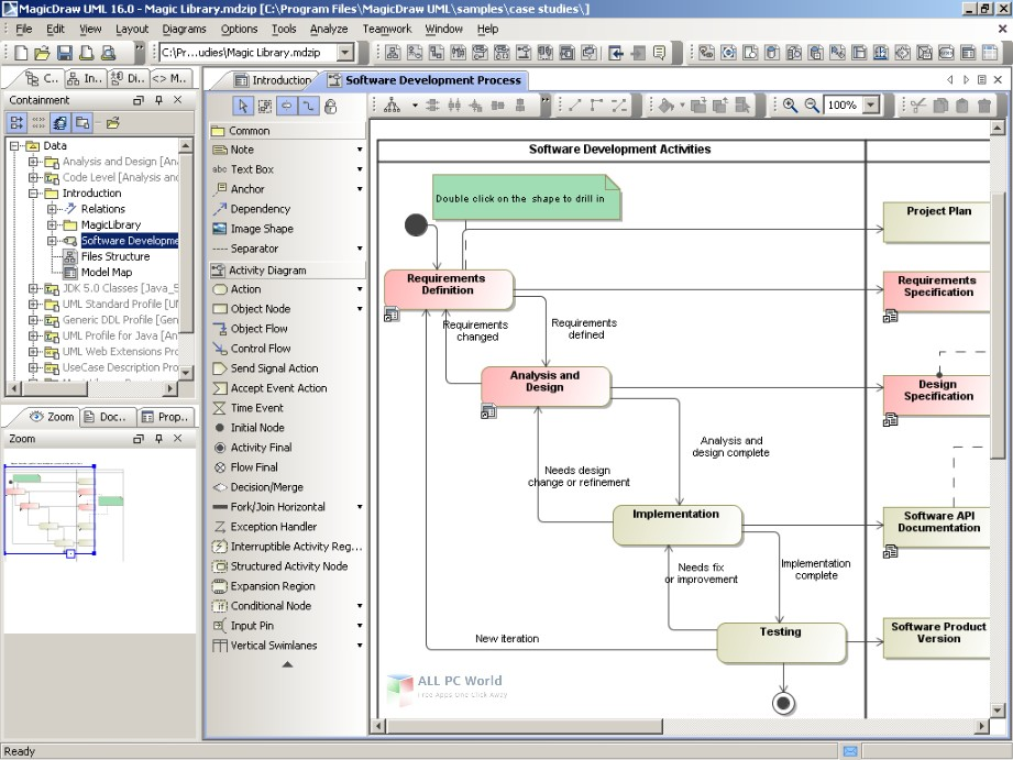 MagicDraw UML Enterprise 16.6 SP1 Free Download