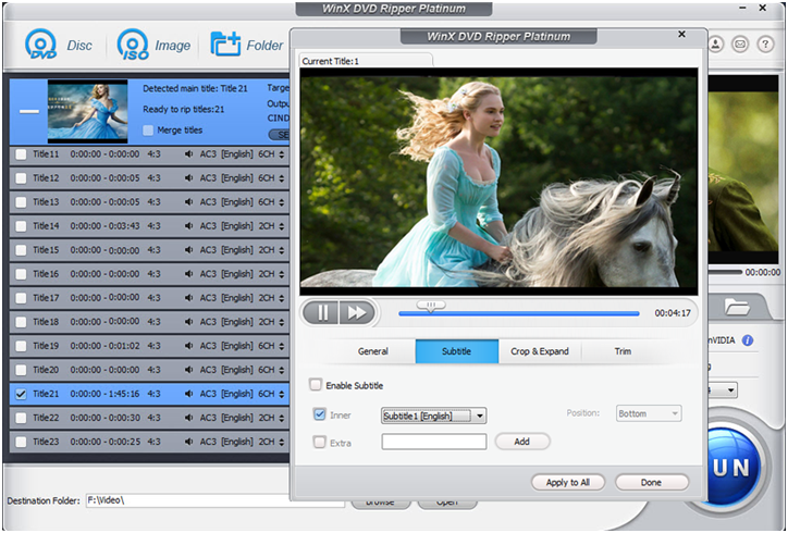 WinX DVD Ripper Platinum 8.8.1 Download