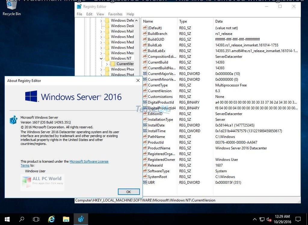 Windows Server 2016 x64 VL Dec 2018