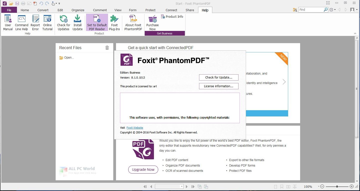 Foxit PhantomPDF Business 9.4 Free Download