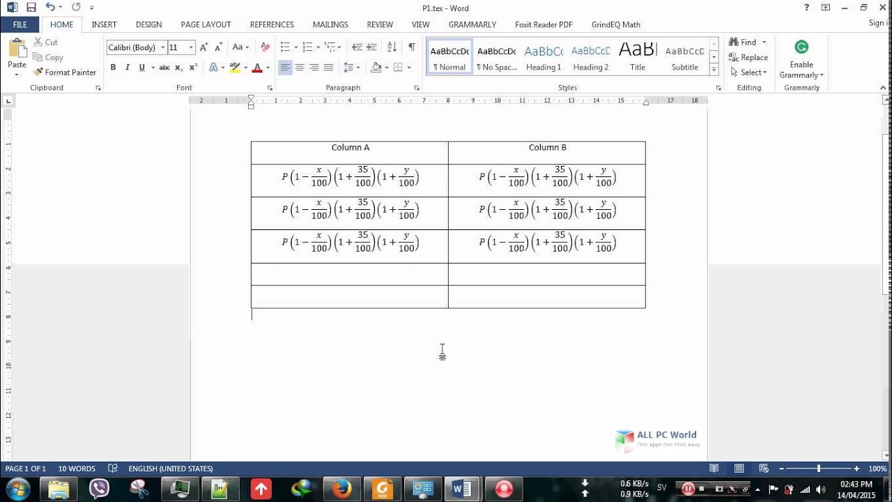 GrindEQ Math Utilities 2015 Free Download - ALL PC World