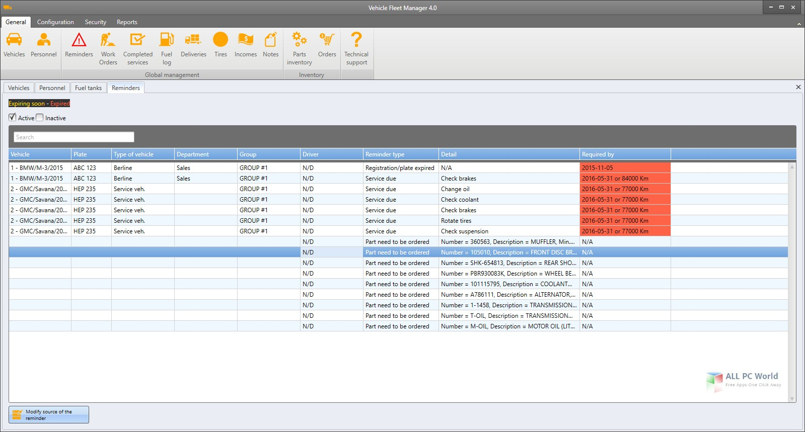 Vinitysoft Vehicle Fleet Manager 4.0