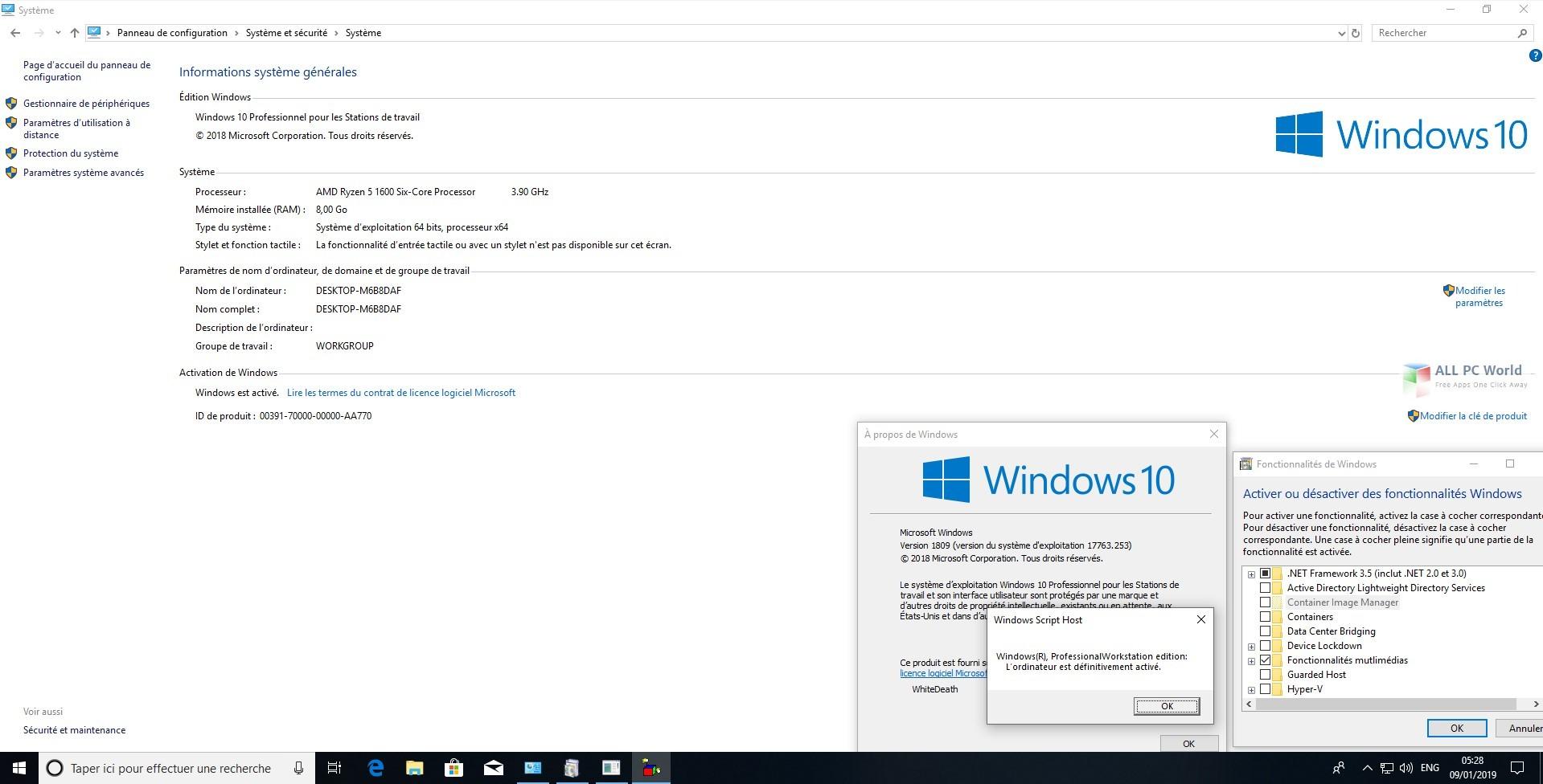 Windows 10 RS5 AIO with January 2019