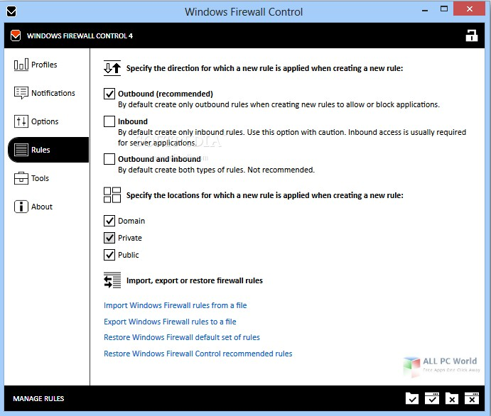 Windows Firewall Control 5.4