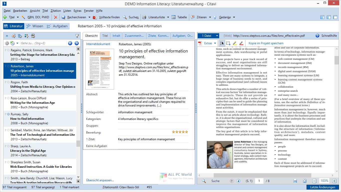 Download Swiss Academic Citavi 6.3 Free