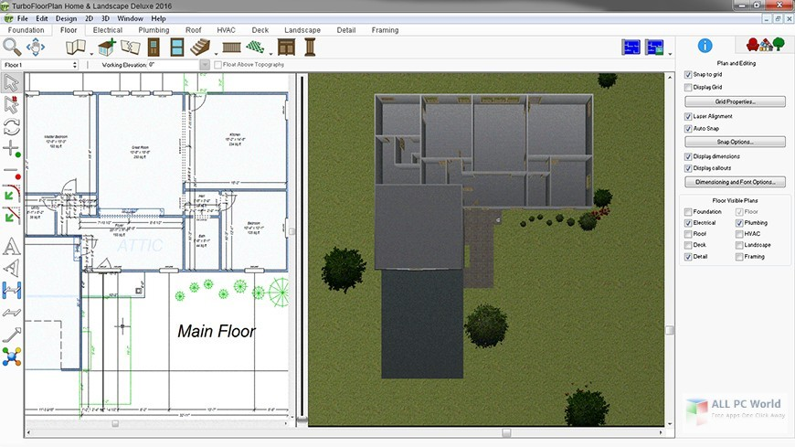 IMSI TurboFloorPlan Home & Landscape Pro 2016 v18.0 Free Download