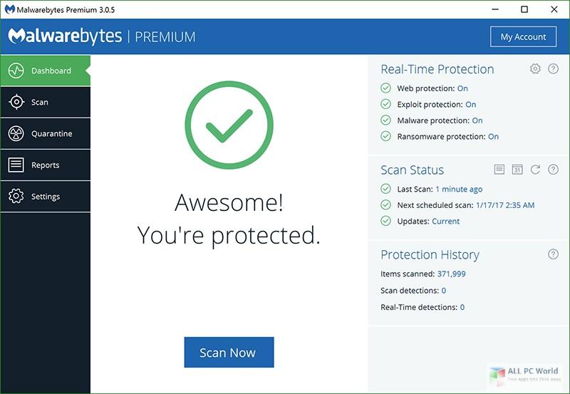 Malwarebytes Premium 3.7