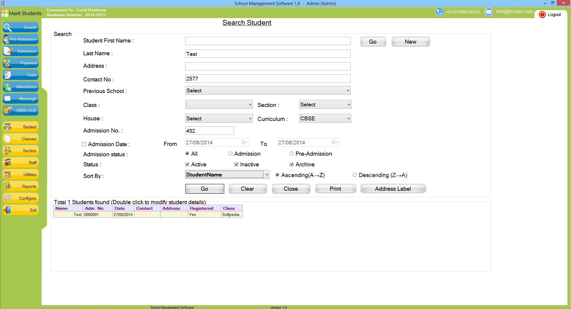 School Management Software 3.1