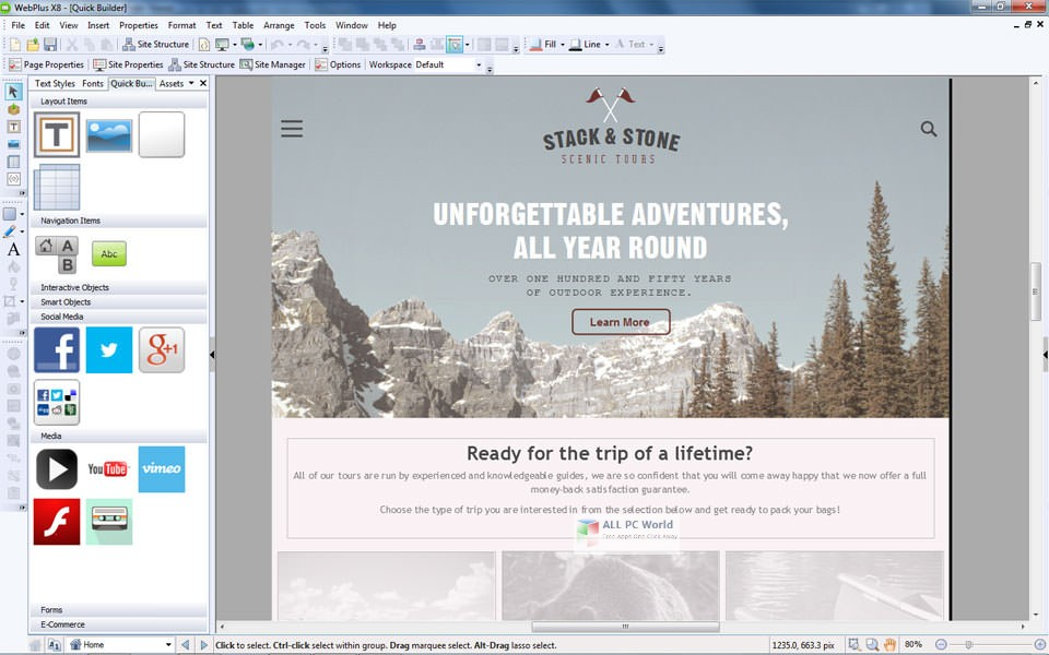 Serif WebPlus X8 v16 Free Download