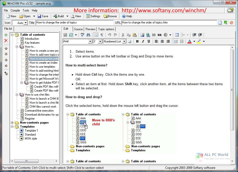 Softany WinCHM Pro 5.3 Free Download