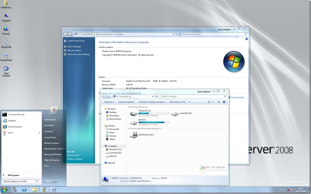 Windows Server 2008 R2 SP1 AIO Feb 2019 DVD ISO