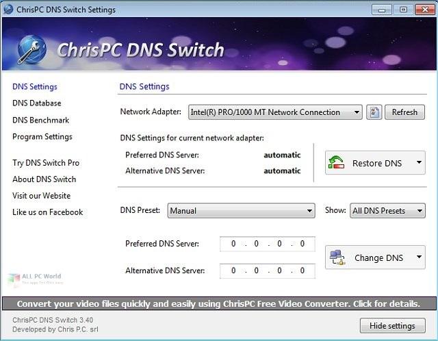 ChrisPC DNS Switch 4.0