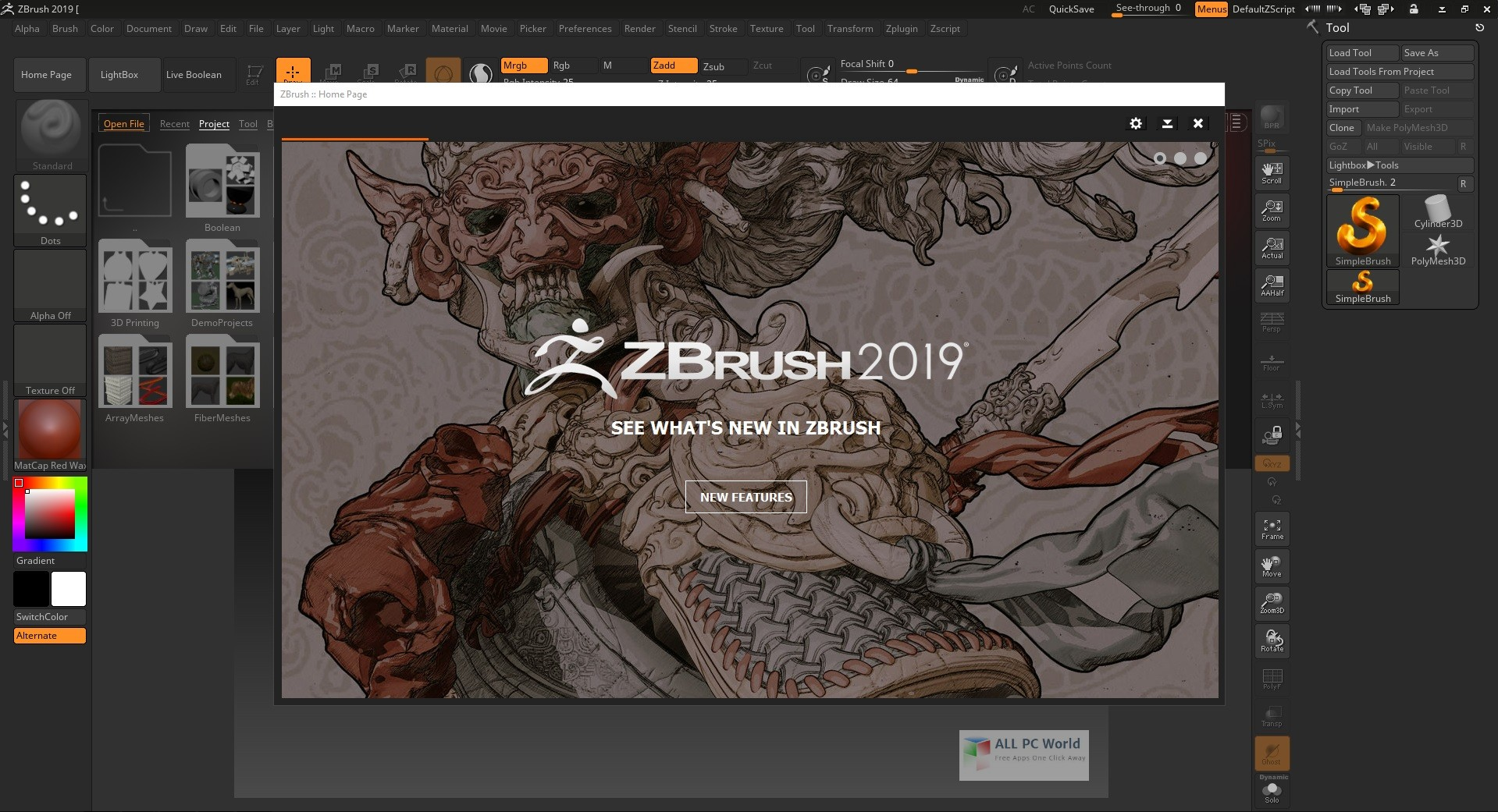 Pixologic ZBrush 2019 Free Download