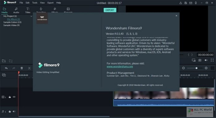 Wondershare Filmora 9.1 Free Download