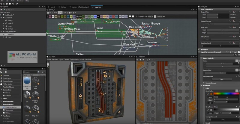 Allegorithmic Substance Designer 2019.1 Free Download