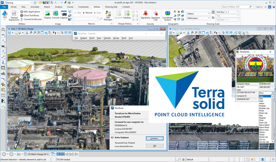 Terrasolid Suite 2019 v19 for Bentley Microstation Download