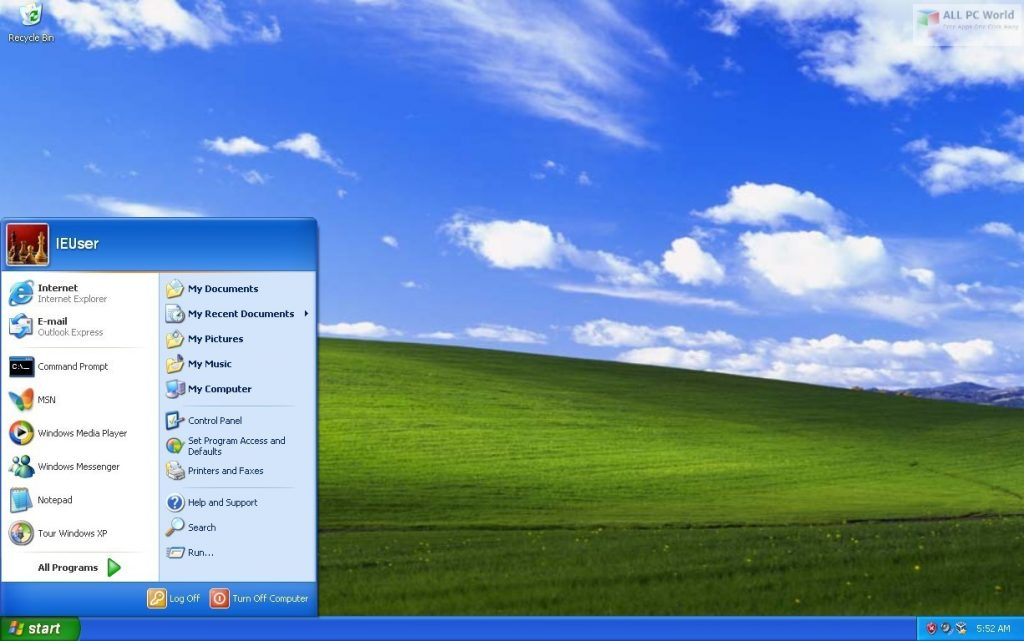 Windows XP Pro SP3 June 2019