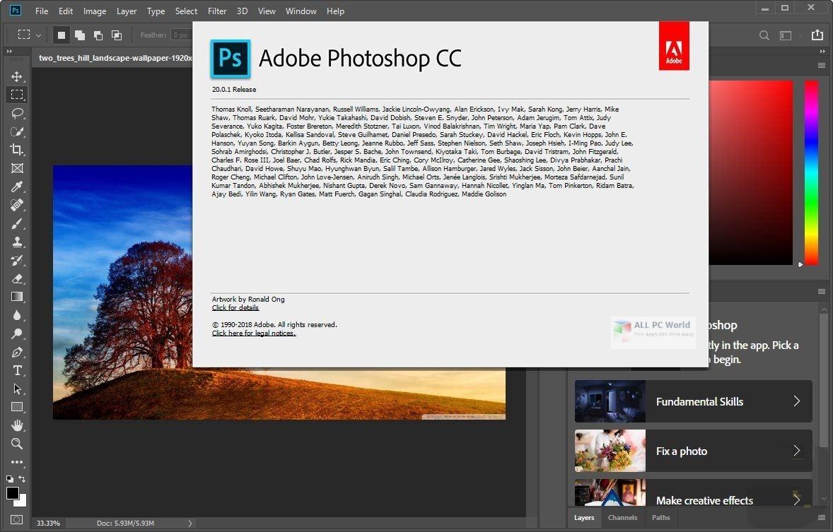 Adobe Photoshop CC 2019 v20 0 5 Free Download - ALL PC World