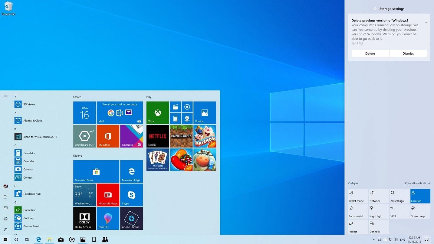 Windows 10 19H1 August 2019