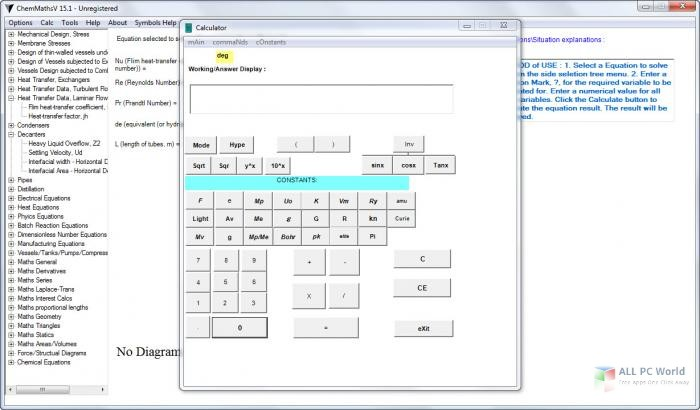 ChemMaths 17 5 Free Download - ALL PC World