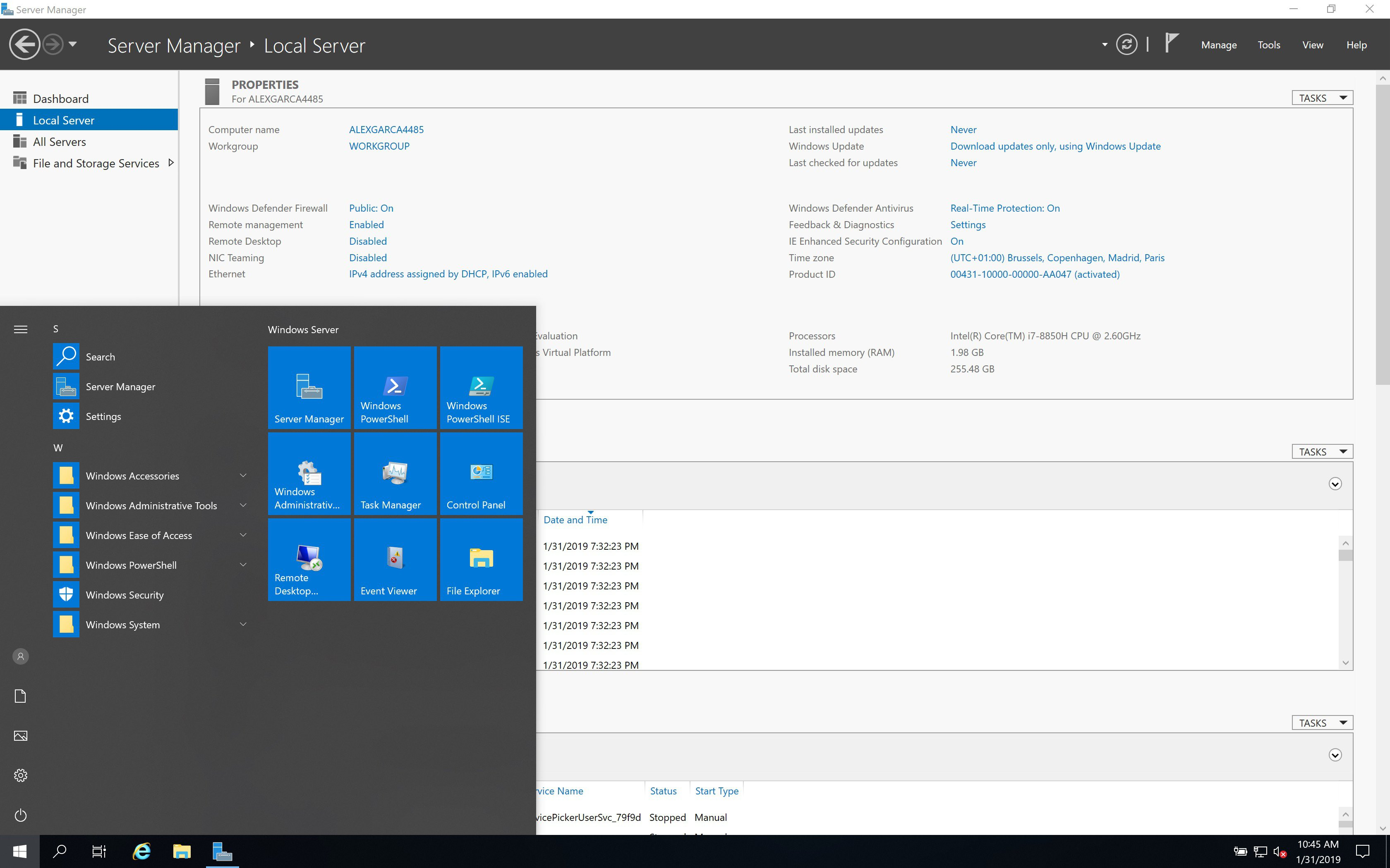 Microsoft Windows Server 2019 v1909 January 2020 Build 18363.592 Download