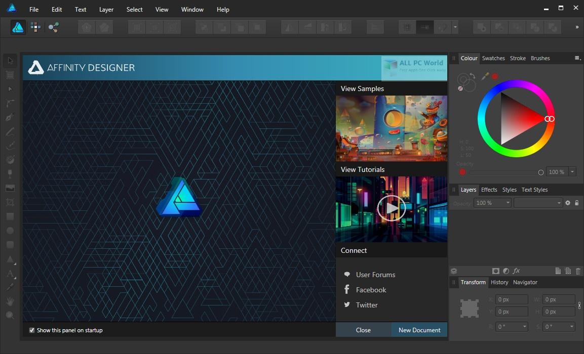 Affinity Designer 1.8.2 Download