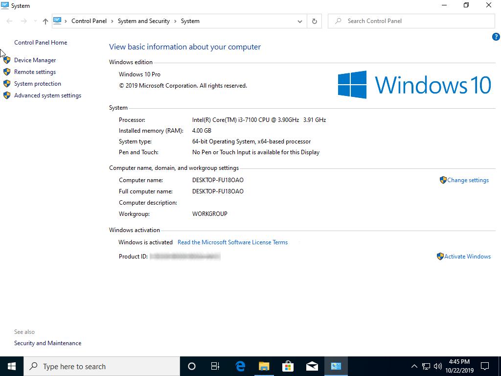 Windows 10 Pro 1909 OEM ESD March 2020 DVD ISO