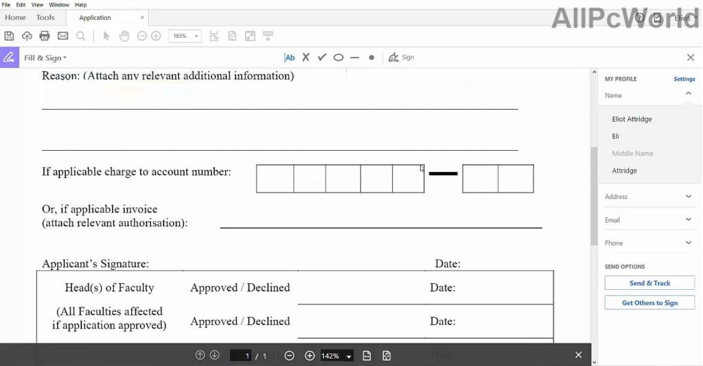 Adobe Acrobat Pro DC Editable Form