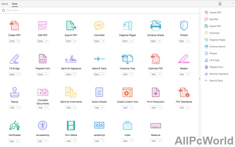 Adobe Acrobat Pro DC User Interface