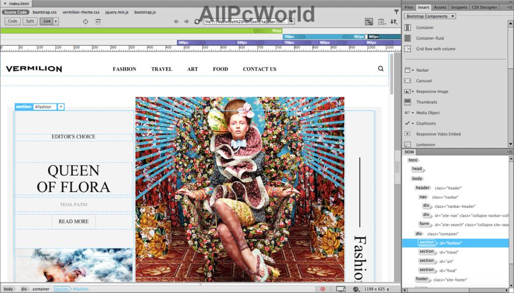 Adobe Dreamweaver CC User Interface