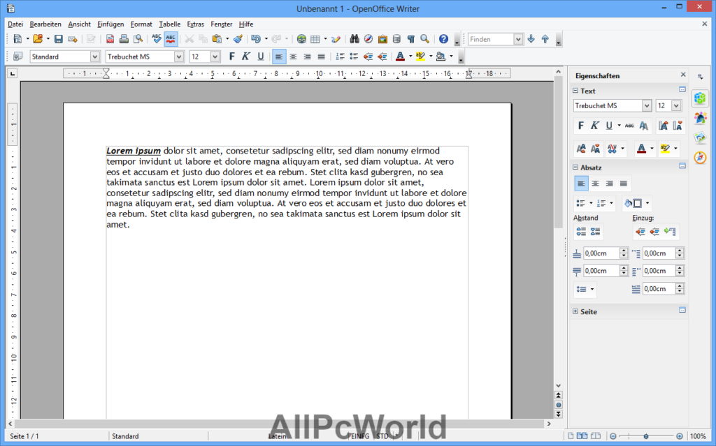Apache OpenOffice 4.1.9 Write