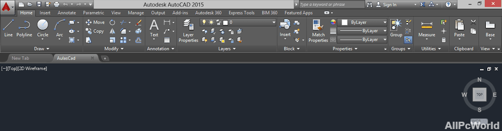 AutoCAD 2015 User Interface