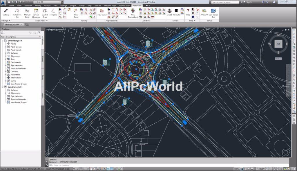 Autodesk AutoCAD Civil 3D 2017 User Interface