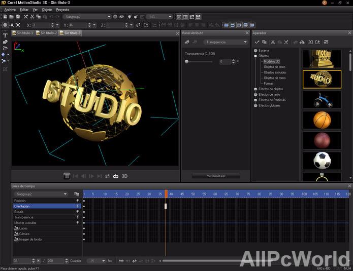 Corel MotionStudio 3D Effects