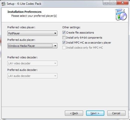K-Lite Codec Pack 16 Free Download