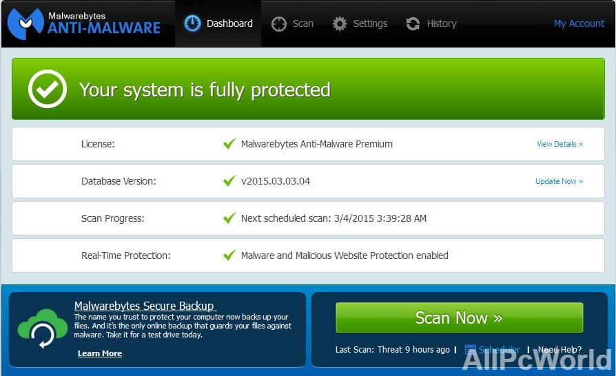 Malwarebytes Anti-Malware Premium 4.2 Free Download