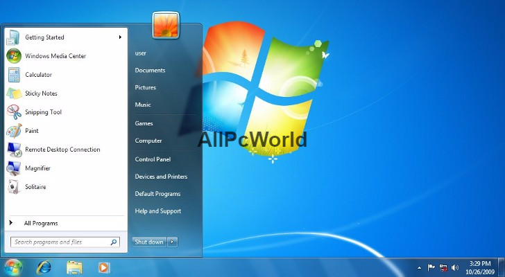 Microsoft Windows 7 Professional Free Download User Interface
