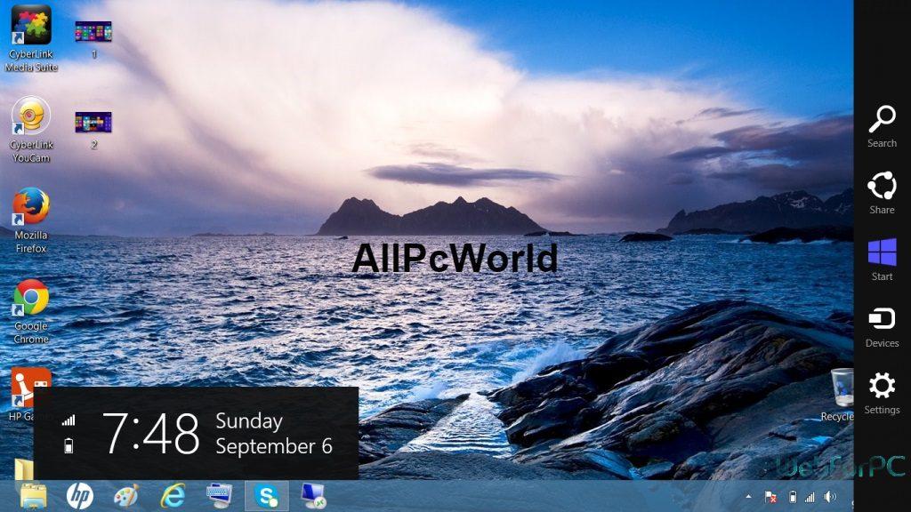 Microsoft Windows 8.0 desktop screen