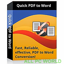 Quick PDF to Word Converter Free Download