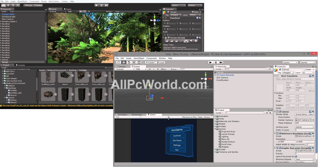 Unity 3D Pro Development Environment
