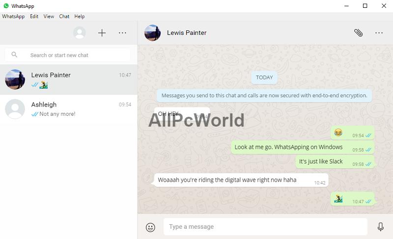 Whatsapp web version for PC