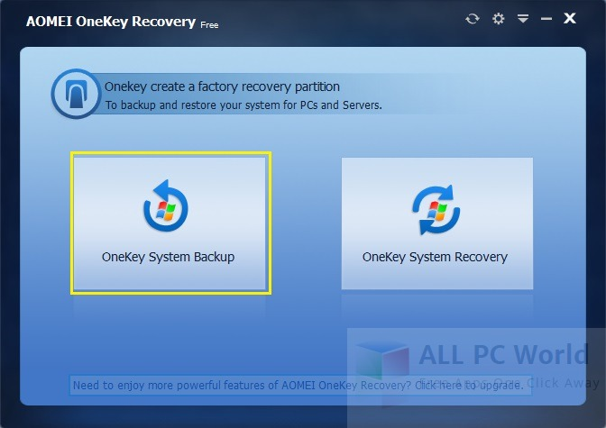AOMEI OneKey Recovery 1.6 Review