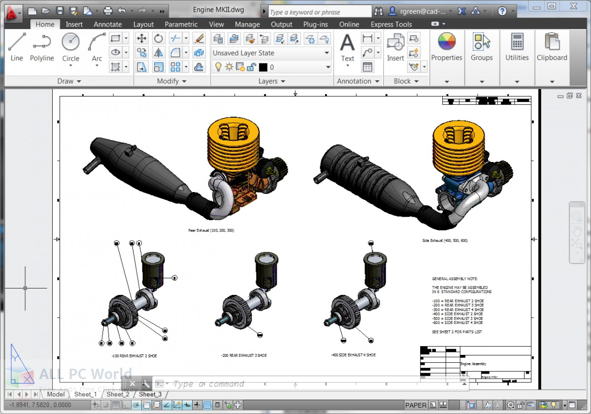 Autodesk AutoCAD Mechanical 2014 Review and Features