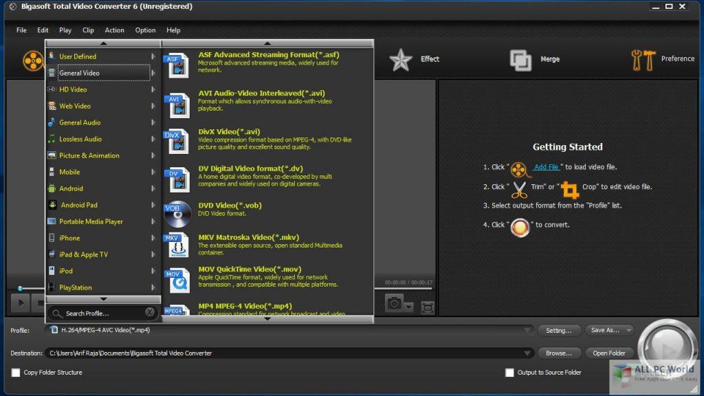 Bigasoft Total Video Converter 6.3 Free Download