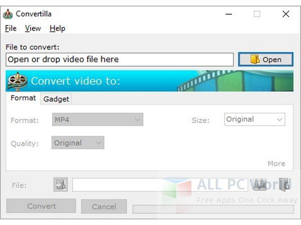 Convertilla Video Converter Review and Features