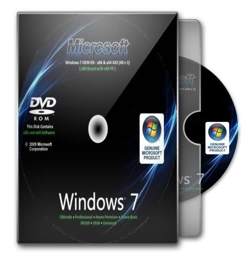 HP Compaq Windows 7 Ultimate logo