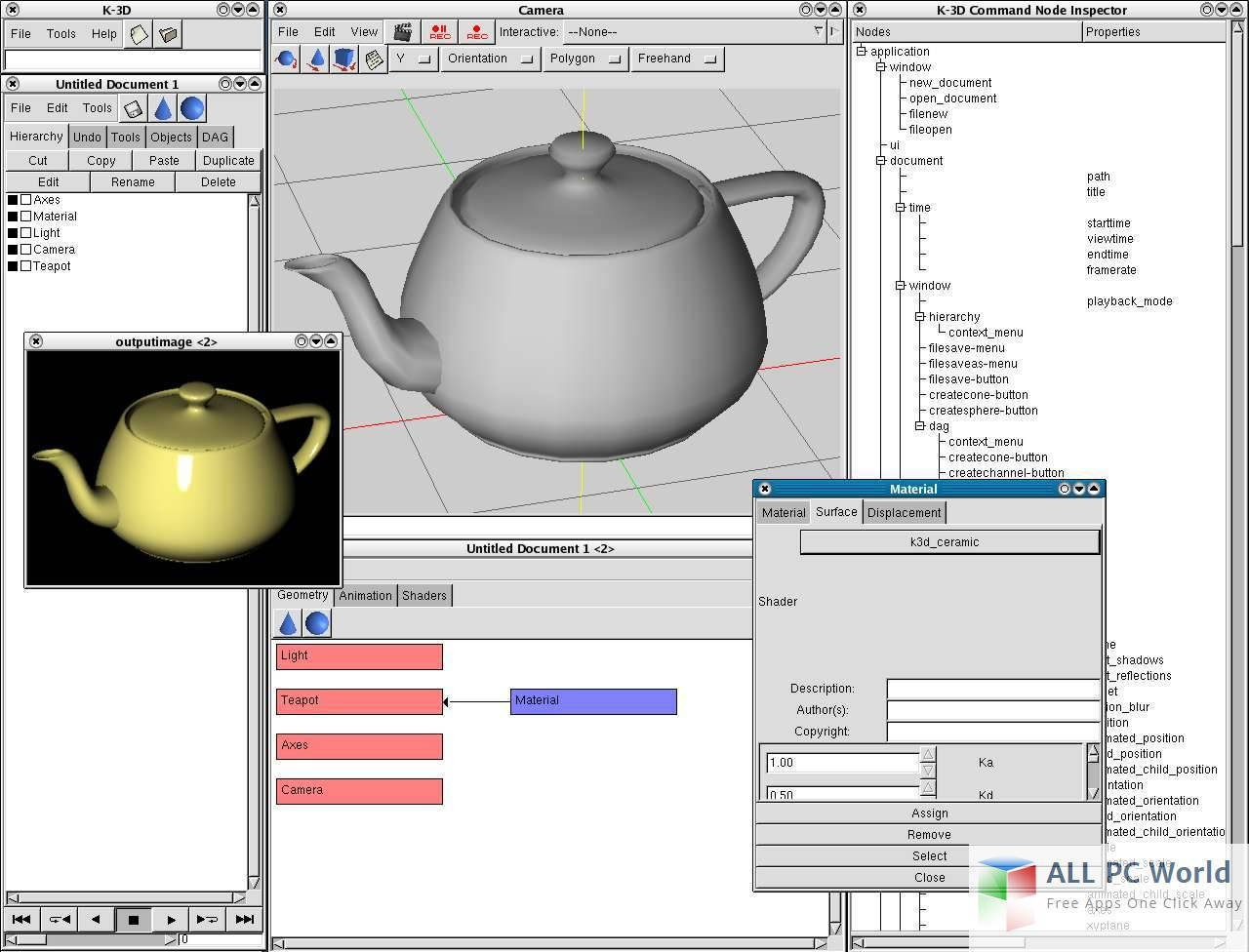 K-3D Modeling Reviews and Features